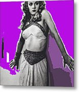 Film Homage Jean Rogers Dale Arden Flash Gordon Serial 1936 Publicity Photo Color Added 2008 Metal Print