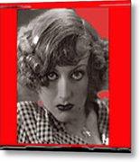 Film Homage Joan Crawford Louis Milestone Rain 1932 Collage Color Added 2010 Metal Print