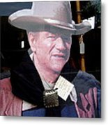 Film Homage John Wayne The Man From Monterey 1933 Cardboard Cut-out Window Tombstone Arizona 2004  Metal Print