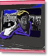 Film Homage Julian Rivero Burn 'em Up Barns 1934 Mascot Serial Collage Screen Capture 2008 Metal Print