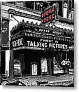 Film Homage Opera House Tucson Arizona Circa 1929-2012 Metal Print