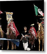 Film Homage Ride Vaquero 1953  2 Hispanic Riders  Rodeo Parade Tucson  Az 2002-2008 Metal Print