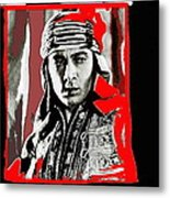 Film Homage Rudolph Valentino The Shiek 1921 Collage Color Added 2008 Metal Print