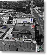 Film Homage Ted Degrazia Cine Plaza Theater  Blue W. Congress Tucson Arizona 1936-2008 Metal Print