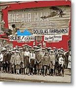 Film Homage The Air Mail  Leader Theater Washington D.c. 1925-2010 Metal Print