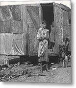 Film Homage The Grapes Of Wrath 1 1940 Family In Shack Perhaps Eloy Arizona 1940-2008 Metal Print