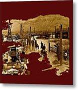 Film Homage The High Chaparral Set Collage Old Tucson Arizona C.1967-2013 Metal Print