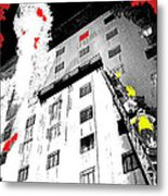 Film Noir Act Of Violence 1949 Pioneer Hotel Fire 1970 Jack Schaeffer Photo Color Added 2012 Metal Print