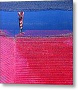 Film Noir  Angela Lansbury The Manchurian Candidate 1962 Flag Water Reflection Casa Grande Az 2005 Metal Print