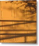Film Noir Caught 2 1949 Shadow On Garage Door Casa Grande Arizona. 2004 Metal Print