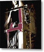 Film Noir  Dance Hall Girl Looks Down On Robert Mitchum The King Of Noir Filming  Old Tucson Az 1968 Metal Print