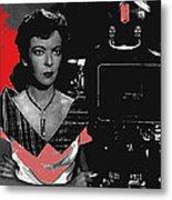 Film Noir Director Ida Lupino Color Added 2012 Metal Print