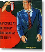 Film Noir Edmund O'brien D.o.a. 1949 Poster Color Added 2008 Metal Print