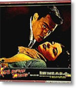 Film Noir Gerd Oswald Robert Wagner A Kiss Before Dying 1956 Poster Color Toning Added 2008 Metal Print