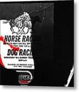 Film Noir Jim Thompson The Grifters 1990 2 Horse Dog Tracks Sign Juarez 1977 Metal Print