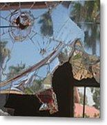 Film Noir Jim Thompson The Grifters 1990 Palm Trees Shattered Glass Casa Grande Arizona 2004 Metal Print