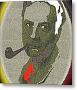 Film Noir Mystery Writer Raymond Chandler Vignetted Texture Color Added 2013 Metal Print