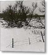 Film Noir Nicholas Ray Ida Lupino On Dangerous Ground 1952 1 Rko Radio Fence Near Aberdeen Sd 1965 Metal Print