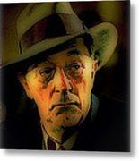 Film Noir Robert Mitchum Philip Marlowe Farewell My Lovely 1975 Publicity Photo Color Added 2013 Metal Print