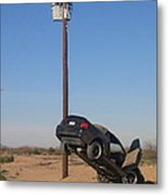 Film Noir Walter Hill Bruce Dern Ryan O'neal The Driver 1978 Car  Telephone Wire Arizona City Az Metal Print