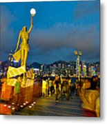 Film Statue At Avenue Of Stars Metal Print by Hisao Mogi