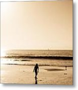 Filtered Beach Metal Print