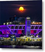 Final Moon Over The Pier Metal Print