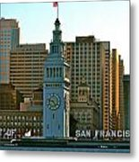 Financial District Lower Market Street San Francisco Metal Print