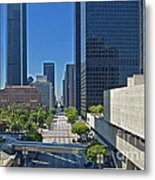 Financial District Skyscrapers California Plaza Metal Print