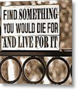 Find Something Metal Print