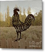 Find Your Greatness Rooster Chicken Fowl Vintage Typography Metal Print
