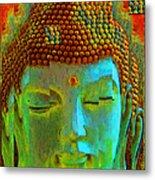 Finding Buddha - Meditation Art By Sharon Cummings Metal Print by Sharon Cummings