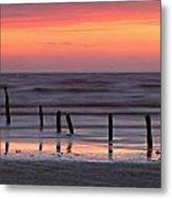 Fine Art Sunset Somerset England Metal Print
