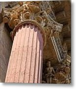 Fine Arts Palace Pillar Detail Metal Print