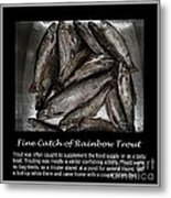 Fine Catch Of Rainbow Trout Metal Print by Barbara Griffin