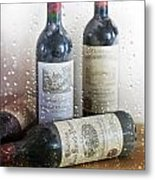 Fine Wine On A Rainy Afternoon Metal Print