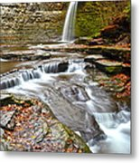 Finger Lakes Waterfall Metal Print