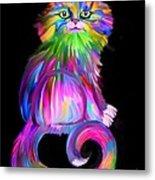 Finger Painted Cat Metal Print