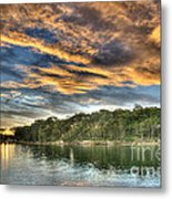 Fingers Of Flame.  Sunset Metal Print