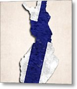 Finland Map Art With Flag Design Metal Print