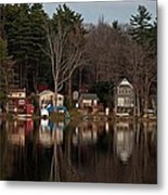 Finn Village On Demond Pond - Rutland Massachusetts Metal Print