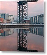 Finnieston Crane Reflections Metal Print