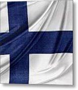 Finnish Flag Metal Print