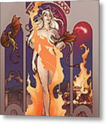 Fire And Blood Metal Print