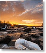 Fire And Ice Metal Print by Davorin Mance