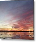 Fire And Ice Fishing Metal Print