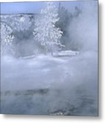 Fire And Ice II - Yellowstone Metal Print