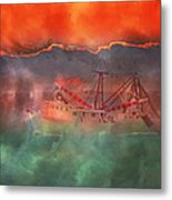 Fire And Ice Misty Morning Metal Print