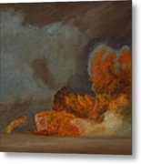 Fire And Sand Metal Print