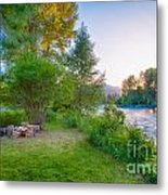 Fire And Water At Cottonwood Cottage Metal Print